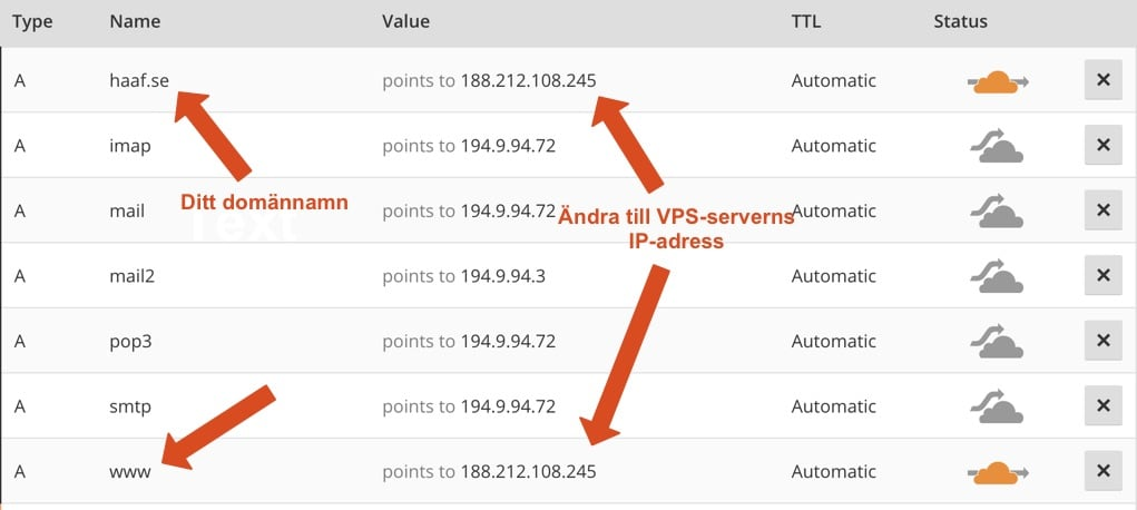 cloudflare-andra-ip-adress-dns